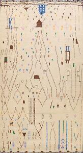 Geometric Modern Moroccan Berber Oriental Hand-knotted Plush Wool Area Rug 10x14