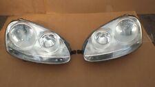 VW GOLF MK5 2004-08 PAIR OF GENUINE HEADLIGHTS LAMP N/S LEFT + O/S RIGHT