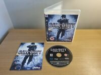 PLAYSTATION 3 - PS3 - CALL OF DUTY WORLD AT WAR - COMPLETE WITH MANUAL FREE P&P