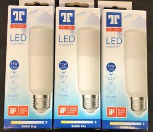 TUNGSRAM LED Bright Stik 15w 6500k Daylight White E27 Pack of 3