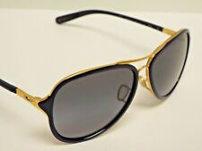 Authentic Oakley OO4102-03 Kickback Navy Gold Grey Gradient Sunglasses