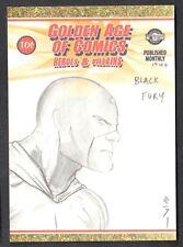 GOLDEN AGE OF COMICS HEROES & VILLAINS Breygent SDCC Sketch Card STEVEN MILLER 2