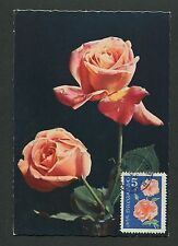 BULGARIA MK 1964 FLORA ROSEN ROSE ROSES MAXIMUMKARTE CARTE MAXIMUM CARD MC d6324