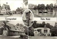 GEORGENTHAL bei Gotha Mehrbild-AK 1985 DDR ua. Café Waldfrieden, Kornhaus uvm.