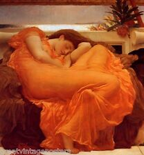 FLAMING JUNE PAINTING BY SIR FREDERIC LEIGHTON ON CANVAS REPRO HUGE