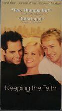 Keeping The Faith (VHS, 2000) Ben Stiller, Jenna Elfman & Edward Norton [VG].