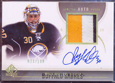 2010-11 SP AUTHENTIC LIMITED RYAN MILLER AUTO PATCH 33/100 GAME USED