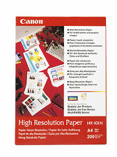 PAPIER CANON HR101 PHOTO NEUF A4 200F 106g / HR101n HR 101 high resolution paper