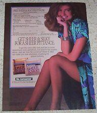 1988 ad page - No Nonsense Sheer Silky Pantyhose SEXY Girl legs vintage PRINT AD