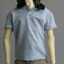 528# Gray Stripe Lapel T-shirt/Outfit SD17 DZ70 70cm DOD AOD LUTS BJD Dollfie