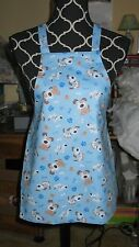 Handmade Child Size Apron - DOGS ON BLUE