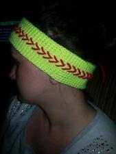 Handmade Crochet Softball Headband adult size