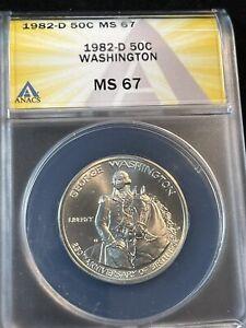 1982 D half dollar commerative  washington ms 67