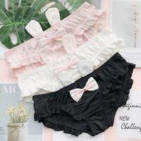 3pcs Japanese Lolita Cute Rabbit Ear Girl knickers Women Panties Cotton Briefs