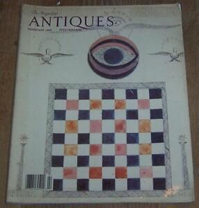 Antiques Magazine February 1990 Shaker Art Victorian Majolica Tiffany Glass