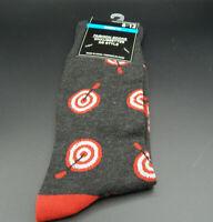 Mens Novely Socks size 6-12-Bullseyes