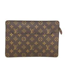 100% Authentic Louis Vuitton Monogram Pochette Homme Clutch bag /u320