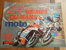 POSTER OFFICIEL ** 24 HEURES DU MANS 1978 MOTOS **  AFFICHE ACO 24H LE
