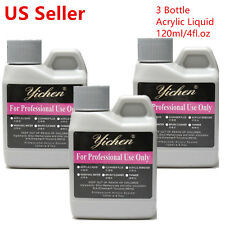 120ml x 3 Bottle Acrylic Liquid Monomer Professional Acrylic Nail System - USA