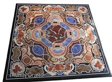 30 Inches Marble Dining Table Top Inlay with Multi Stones Coffee Table for Home