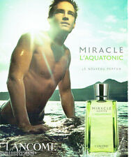 PUBLICITE ADVERTISING 056  2003  Lancome parfum homme Miracle Aquatonic