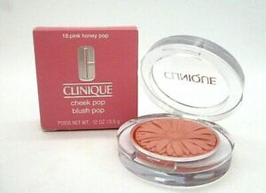 CLINIQUE Cheek Pop Blush Pop Blusher #18 Pink Honey Pop, Full Size (.12 oz), NEW