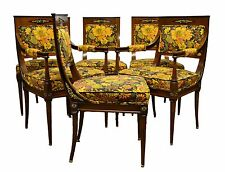Quality French Regency Influenced 6 Six Rosewood Dining Chairs w. Ormolu