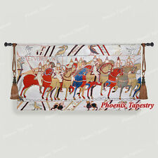 """Bayeux-I Medieval Old World Tapestry Wall Hanging, Cotton 100%, 55""""x31"""", UK"""