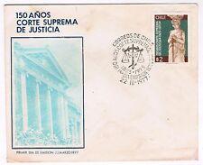 Chile 1977 FDC 150 años de la Corte Suprema de Justicia