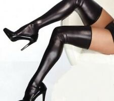 Faux Latex Look Stockings