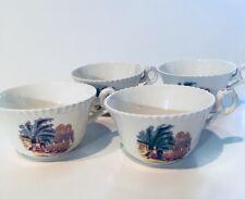4 Copeland Spode  Campagna Teacups Rare
