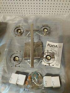 IKEA - FUGA 4 way Ceiling spotlights  , chrome plated, clear glass (1)