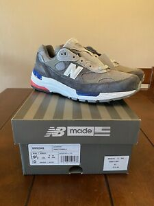 Size 9.5 New Balance 992 Grey Red/White/Blue Made In USA - M992AG 992AG
