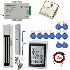 Security Access Control Systems Power Supply Mag lock Metal RFID Keypad Reader