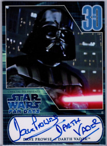 2007 Official Pix Star Wars Fan Days David Prowse Autograph Card Darth Vader