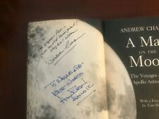 A Man on the Moon  Signed by Alan Bean and Andrew Chaikin.  Soft cover.