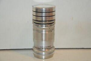 Argus Tele-Sandmar 100mm f/4.5 Lens 33.5mm Mount. Hood & Caps. Smooth controls