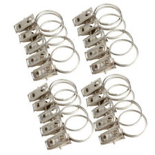 20pcs Stainless Steel Window Shower Curtain Rod Rings Drapery Clips Hook Clamp