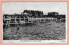 1920s. postcard. Open Air Bath, Anne's on Sea, Lancashire