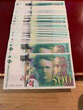 Billets De 500 Francs Curie. 1994-1995