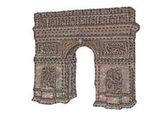 Stadt Paris Triumphbogen  5,7 cm * 5,6 cm Aufnäher Applikation Bügelbild Arc de