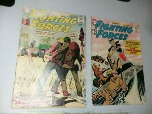 Our Fighting Forces 70 and 72 Dc Comics Early Silver Age Gunner Sarge The Pooch