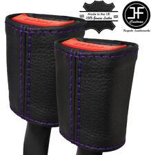 Viola Stitch 2X Anteriore Cintura in pelle copre si adatta MERCEDES CLASSE A W176 12-16