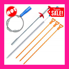New listing 6 Pack Clog Remover Drain Relief Auger Cleaner Tool, Sink And Snake Overflow