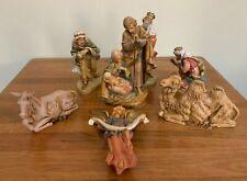"""Fontanini Nativity Set Large 7.5"""" Mary Joseph Jesus 3 Kings Donkey Camel Angel"""