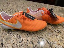 Nike Tiempo Legend VI AG Pro Womens Sz 9 Soccer Cleats 846227-818 Orange White