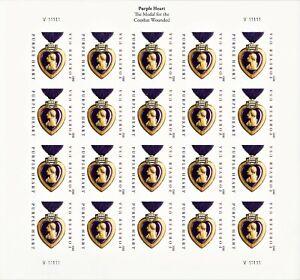 2012 Purple Heart Forever Imperforate Sheet V111111, MNH Scott #4704a