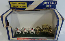 VEHICLES : QUEENS CARRIAGE AND HORSES WITH RIDERS MADE BY CAVENDISH MINIATURES