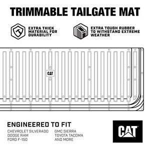 CAT Waterproof Extra Thick Rubber Tailgate Mat / Pad / Protector for Trucks