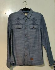 VANS California Bixby native button up shirt- S- surf/skate jacket